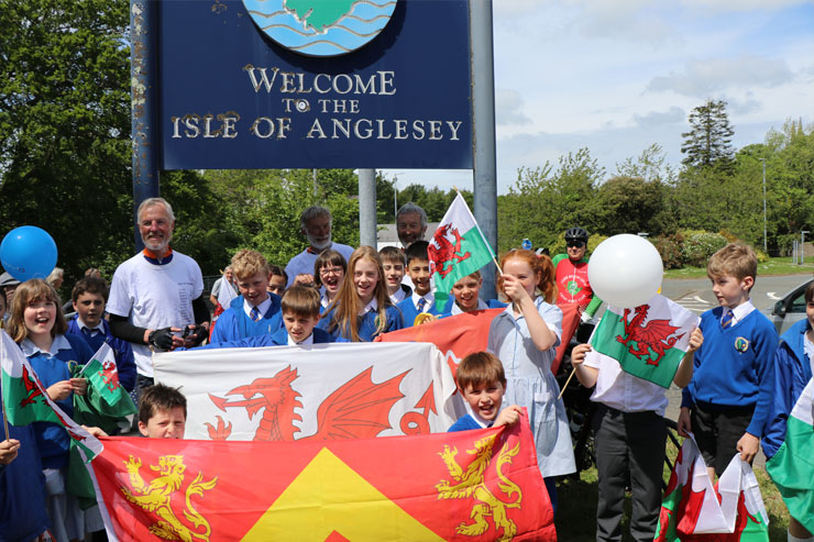 Asia to Anglesey Cyclists Return